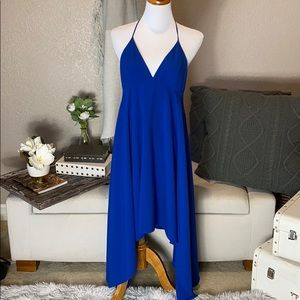 Halston heritage royal blue halter dress size 4